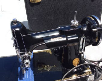 Singer Featherweight 221 Sewing Machine with Case 1934  - Professionally Overhauled