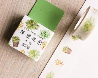 Cute washi tape - green plants #3 - infeel me | Cute Stationery
