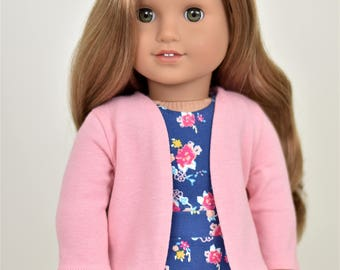 Cardigan 18 inch doll clothes Color Dusty pink