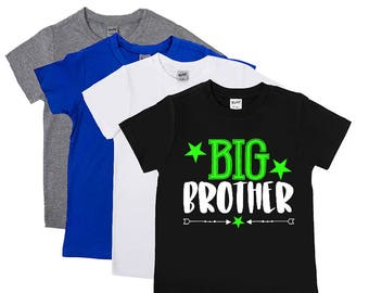 Big Brother Shirts - Promoted to Big Brother Shirt - New Big Brother - Announcement - Brother Shirts -  Big Bro to Be - Boys' Shirts