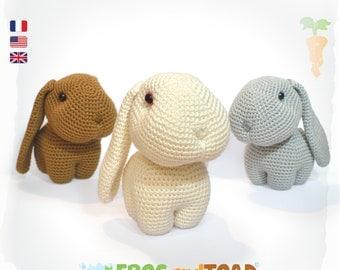 Happy, Hippy & Hoppy - Lapin - Amigurumi Crochet Patron - PDF Tuto Français