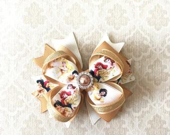 Disney Bows- Disney Princess Headband- Little Mermaid Bow- Cinderella Bow- Jasmine Bow- Snow White Bow- Belle Bow- Sleeping Beauty Bow