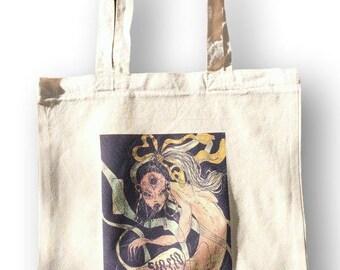 Witchy, Tote, Shoulder Bag, Tote Handbag Canvas, Everyday Bags, Tote Canvas Handbag, Weekender Bag, Canvas Handbag Tote, Bag, Organic,Sloclo