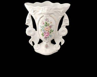 vintage bridal porcelain vase,  french wedding vase, french home decor