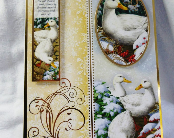 White Duck Christmas Card, Nature Christmas Card, Festive Greeting Card, Call Ducks, White Ducks, Male or Female, Any Age