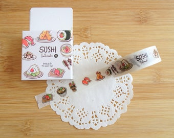 Planner Accessories: Japanese Sushi Washi Tape - for Planners & Scrapbooks