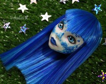 Monster High Custom Repaint Art doll OOAK Scarah Screams/Only the Head!