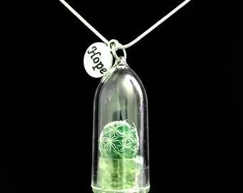 Live Cactus Necklace / Moonlight Cactus / Terrarium Necklace / Miniature Terrarium / Wearable Plant Perfect Gift