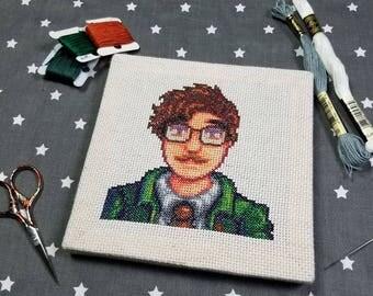 Cross Stitch Pattern - Harvey Portrait - Stardew Valley