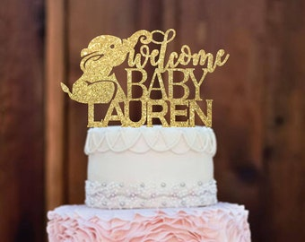 Cake Topper  Baby Shower Cake Topper   Elephant Baby Shower   Baby Shower  Decorations