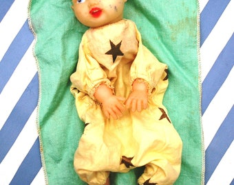 Vintage Clown Hand Puppet Doll 1940's
