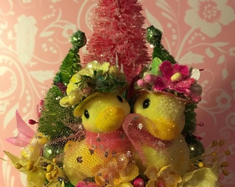 Easter, Spring, Vintage Easter, Vintage Spring, Decoration, Table Decor, Hostess Gift, Keepsake, Easter Gift, Birthday Gift, One of a Kind,