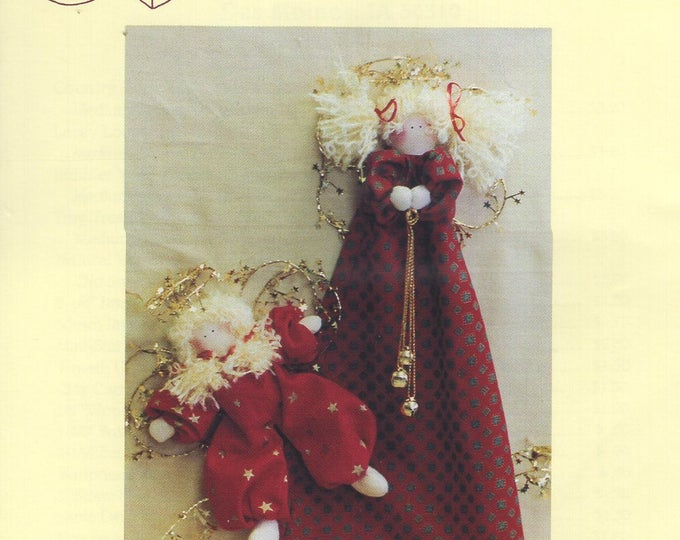 Craft Sewing Pattern Free Us Ship Uncut Twice as Nice Designs 168 O' Heavenly Stars Angel doll Ornaments Tree Christmas 1992