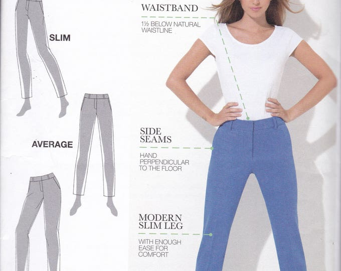 FREE US SHIP Simplicity 1696 Amazing Fit Skinny Jeans for Slim Average Curvey Women Uncut Size 8 10 12 14 16 Waist 31.5-38 Factory Folded