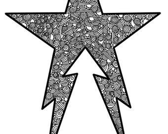 Full Recluse logo zentangle