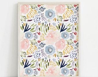 Watercolor Floral Print, Watercolor Print, Watercolor Flowers, Floral Art Print, Floral Wall Art Print, PRINTABLE ART, Floral Printable
