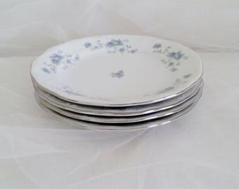 Blue Garland Bread & Butter Plates Set of 4 // Johann Haviland Blue Garland China
