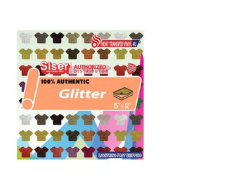 """Siser® Glitter 15"""" X 12"""" Sheets (14.75"""" ACTUAL SIZE)"""