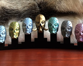 Skyrim  9 Dragon Priest Masks Display 3D Printed