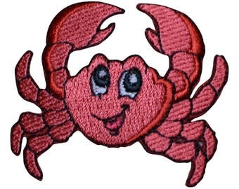 Crab Applique Patch (Iron on)