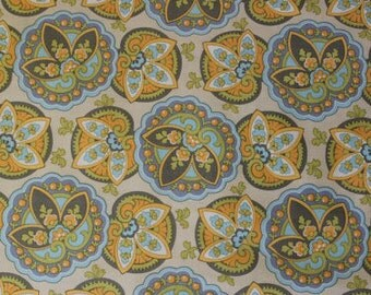 Amy Butler-Lotus Collection-Star Paisley Sand; AB12; Cotton woven Fabric; 1/2 yard