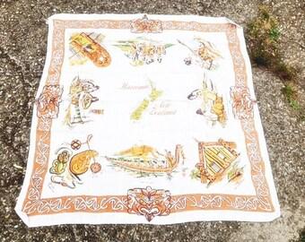 New Zealand Haeremai Linen Cloth Vintage New Zealand Table Cloth Vintage Linen Fabric