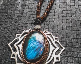 BlueFire Sun Mala - Snake Bone - Tribal - Ethnic - Boho - Gypsy - Design - Cosplay - Gems - Pixies - Fairy - Shaman - Rave - Unique