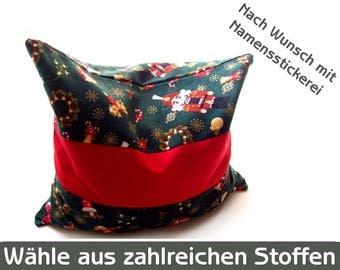 Christmas cherry stone pillow, Nutcracker, Kirschkerkissen red green FIR green, grains pillow red,-green, heat pillows advent