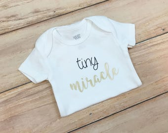 Tiny Miracle Bodysuit / Newborn / New Baby / Unisex / Gender Neutral
