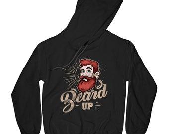 Beard up hoodie no shave hoodie beard hoodie barber hoodie hipster hoodie funny hoodie vintage hoodie ginger hoodie men up hoodie       AP80