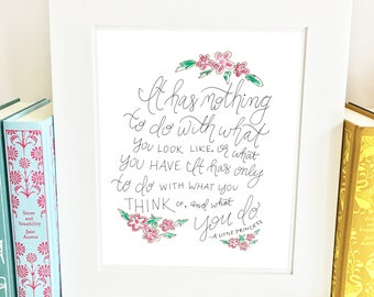 Quote Print - A Little Princess - Literary Wall Art - QSC