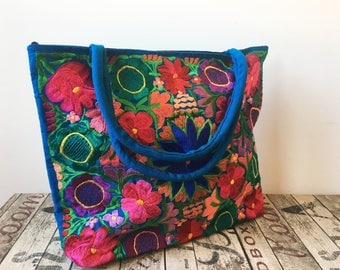 XL EMBROiDERED MEXICAN BAG, Made in Chiapas