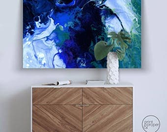 ABSTRACT FLUID PAINT - Wall Art Print Poster Canvas - On Trend