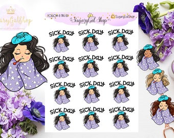 Miss Glam Lady D Sick Day Planner Sticker Sheet
