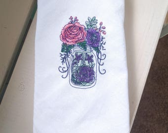 Mason Jar Flour Sack Towel PREMIUM