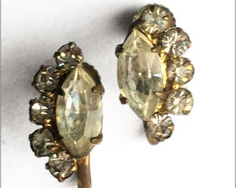 50's Austrian Crystal Earrings