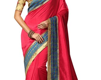 Indian Designer Peach Colored Dupion Silk Saree  Formal Bridal Saree Party Wear Saree for Women