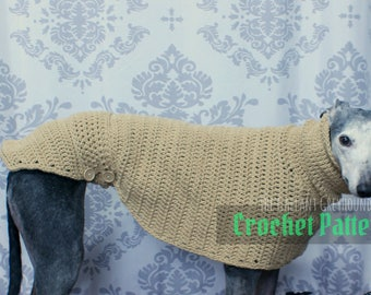 Turtleneck Sweater for Greyhounds Crochet Pattern (PATTERN ONLY)