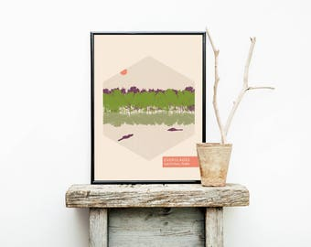 National Parks - Everglades - Geekery Girl Gifts - Travel Poster - Florida  – Wanderlust - Home Decor - Greatest Adventure - National Park