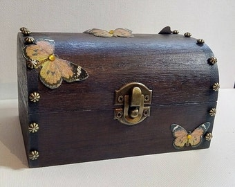 Embellished Butterfly Treasure Trinket Box