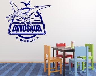 Wall Vinyl Decal Fantasy Interior Decor Dinosaur World Amusement Park Decoration (2513dz)