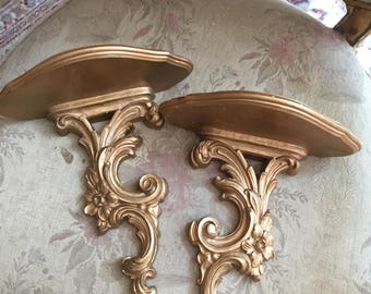 PAIR VINTAGE Shelf or Display Brackets