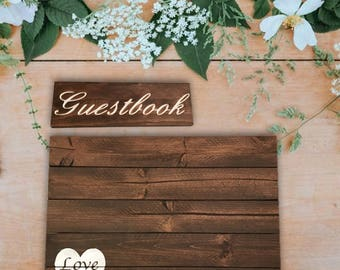 Guestbook Sign - Wooden Guestbook Sign - Wedding Guestbook Sign - Wedding Signs