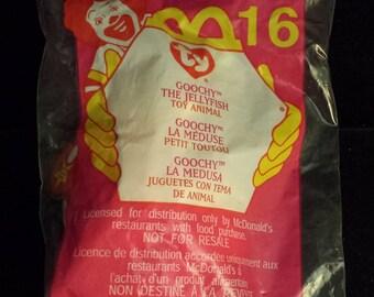 McDonald's TY Teeny Beanie Baby, Goochy the Jellyfish, NEW & SEALED
