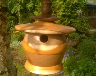 Turned Wooden Bird House