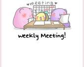 Meeting Sprinkles || Planner Stickers, Cute Stickers for Erin Condren (ECLP), Filofax, Kikki K, Etc. || STB60