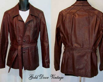 Rare Style Vintage EAST WEST MUSICAL Instruments Hand Crafted Oxblood Leather Jacket M