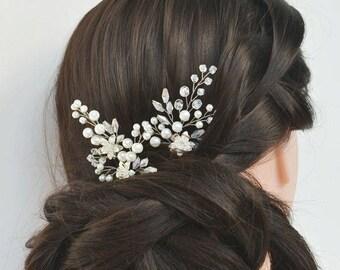 Bridal hair pins Wedding hair pins Bridesmaid hair pins Flower hair pins Crystal hair pins Rhinestone hair pin Bobby pins Pearl hair pins