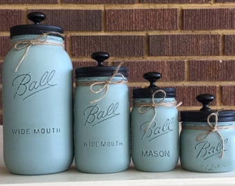 Rustic home decor etsy for Mason jar kitchen ideas