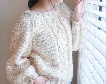 Chunky Cable Knitted Jumper